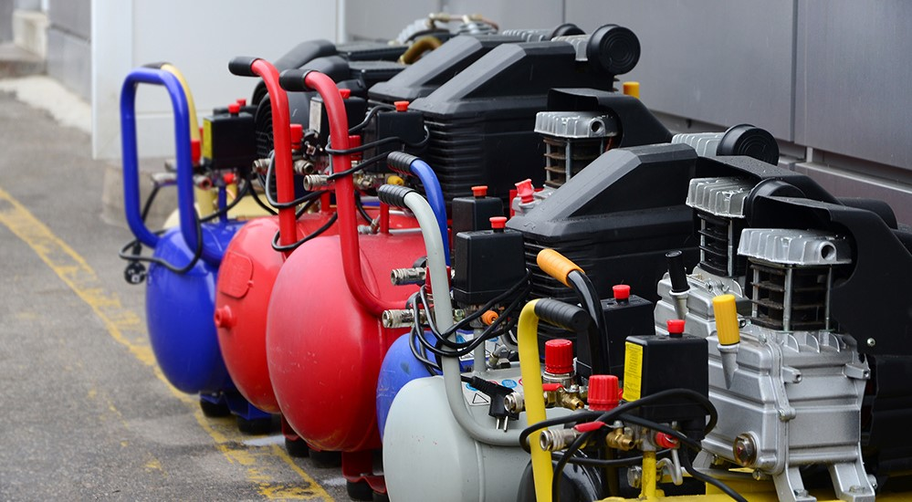 What are the different types of Air compressors?