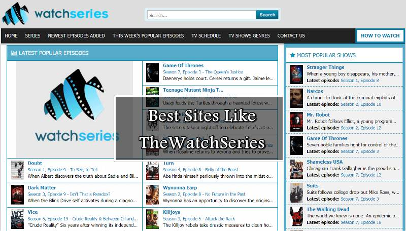 Best Websites Like TheWatchSeries