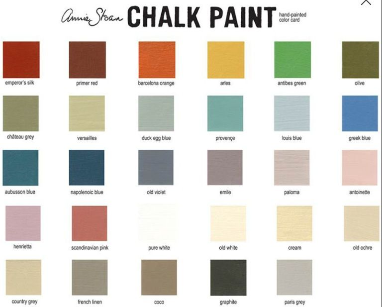 Chalk Paint Come in Different Colors
