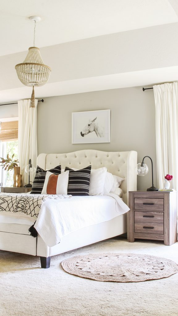 Repose Gray by Sherwin Williams Bedroom