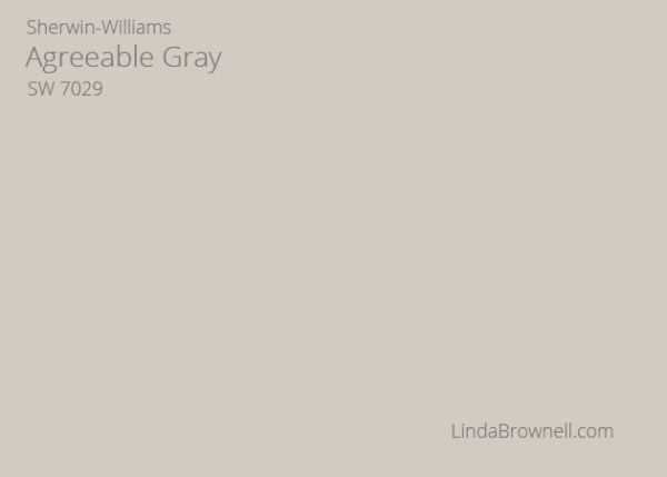 Sherwin Williams Agreeable Gray 7029