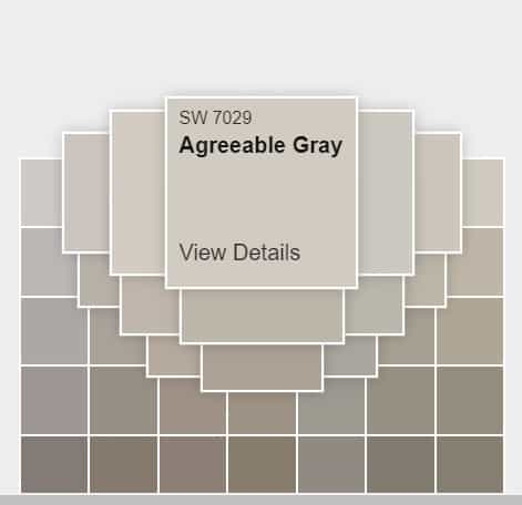 Sherwin Williams Agreeable Gray SW 7029