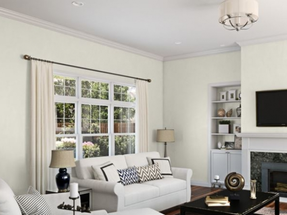 Sherwin Williams Alabaster SW 7008 Interior