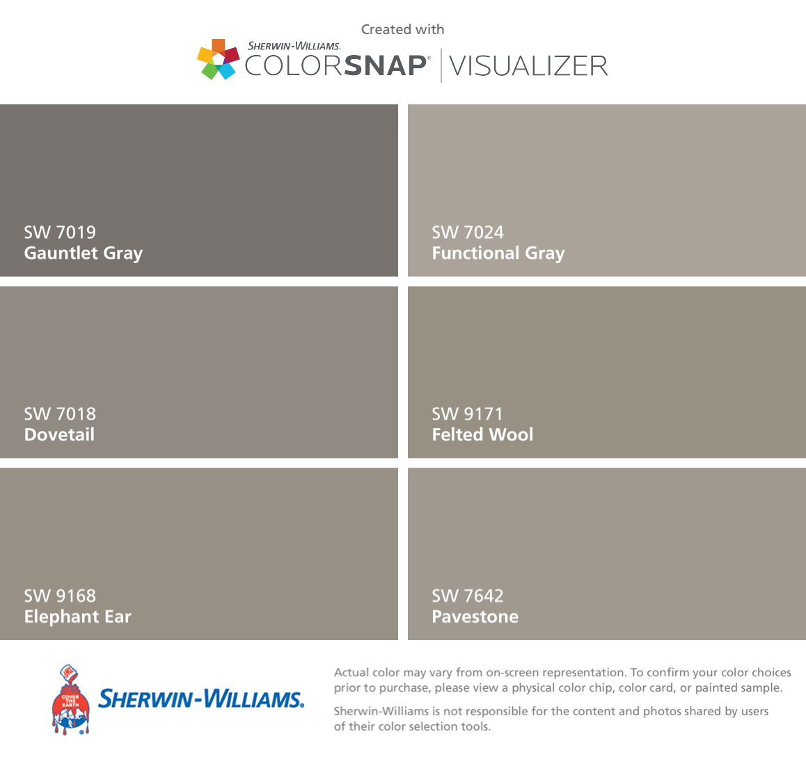 Sherwin Williams Gauntlet Gray SW 7019
