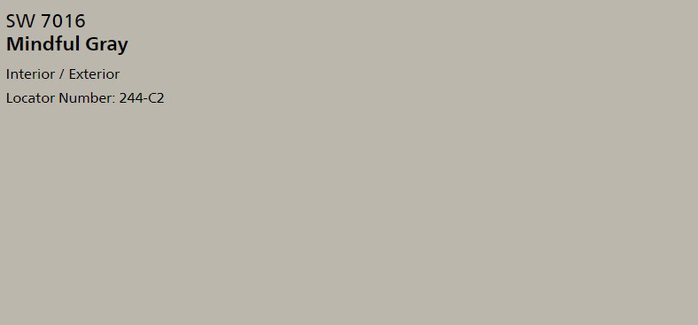 Sherwin Williams Mindful Gray SW 7016 Paint
