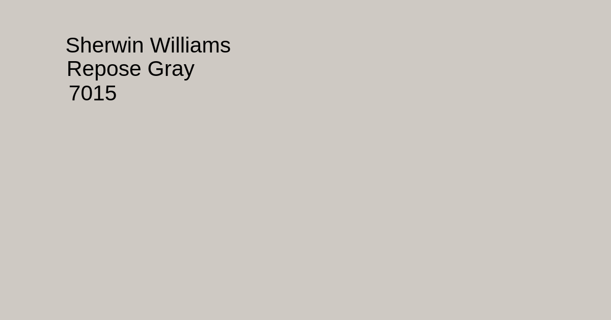 Sherwin Williams Repose Gray SW 7015