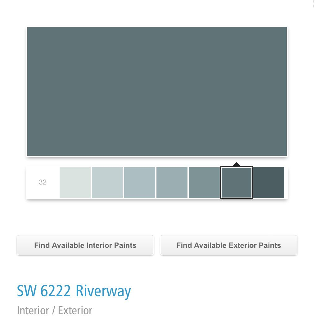 Sherwin Williams Riverway SW 6222