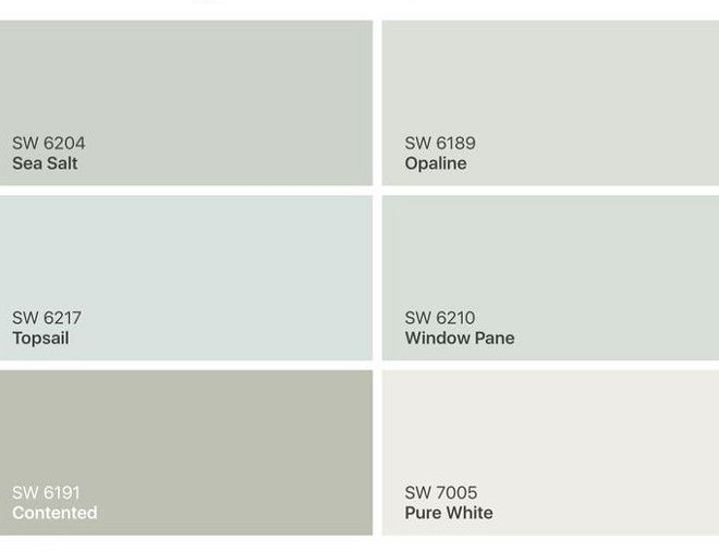 Sherwin Williams Sea Salt SW 6204