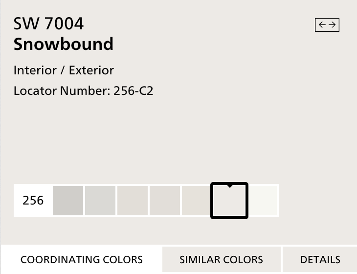 Sherwin Williams Snowbound SW7004