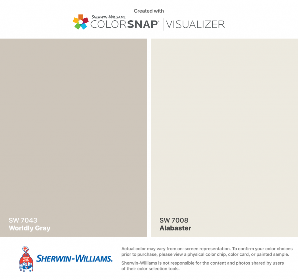 Sherwin Williams Worldly Gray 7043